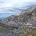 Josephine Peak, upper Arroyo Seco and Angeles Crest Highway from the Gabrieleno Trail